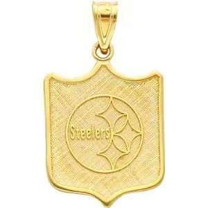 14K Gold NFL Pittsburgh Steelers Logo Shield Charm Sports