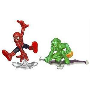 Spider Man Super Hero Squad Spider Man vs. Green Goblin  Toys & Games