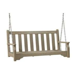 Classic Recycled Plastic Porch Bench Swing Patio, Lawn & Garden