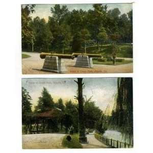 2 Grant Park Scene Postcards Atlanta Georgia 1908
