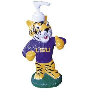 LSU Tigers Ceramic Mascot Liquid Soap Pump: Sports & Outdoors