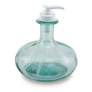 Recycled Clear Green Glass Round Dispenser Bottle 450 cc