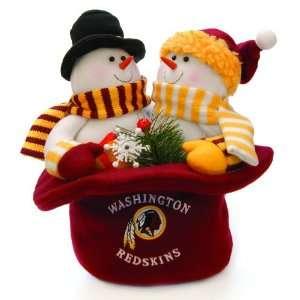 12 NFL Washington Redskins Plush Snowmen Top Hat