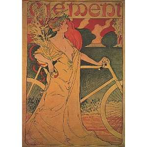 CLEMENT BICYCLE BIKE CYCLES VINTAGE POSTER CANVAS REPRO