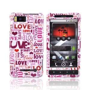 PINK LOVE WHITE Hard Case For Samsung Droid X MB810 Electronics