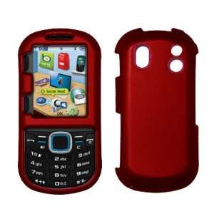 Samsung Intensity 2 U460   Premium Red Rubberized Snap On Cover