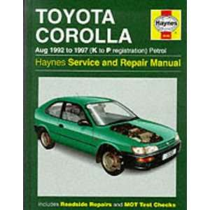com Toyota Corolla 1992 97 Service and Repair Manual (Haynes Service
