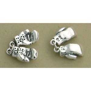 Sterling Silver Charm Set, Boxing Gloves, 5/8 inch, 2