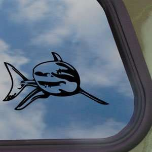 Great White Shark Black Decal Car Truck Window Sticker
