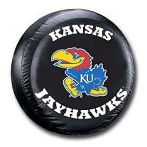 Kansas Jayhawks KU NCAA Black Spare Tire Cover  Sports
