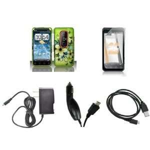 HTC EVO 3D (Sprint) Premium Combo Pack   Black Butterfly
