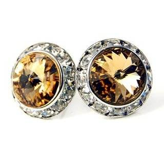 Colored Swarovski 20mm Crystal Stud Earrings Fashion Jewelry Jewelry