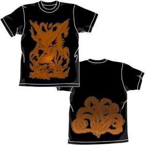 Naruto Kyuubi Nine Tail Fox Black T shirt Clothing