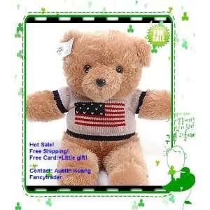 teddy bear american princess teddy bear in sweater stuffed teddy bear