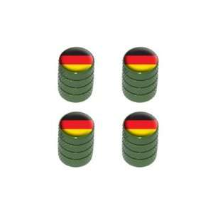 German Flag   Tire Rim Valve Stem Caps   Green Automotive