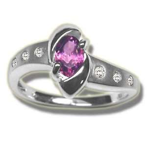 .09 ct 6X4 Oval Pink Tourmaline Ladies Ring Jewelry