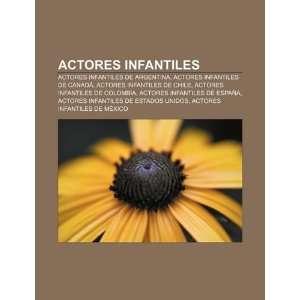 de Chile, Actores infantiles de Colombia (Spanish Edition