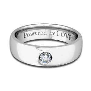 Engraved Mens Diamond Wedding Band Comfort Fit in 14k White Gold (G
