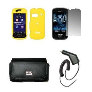 Protector + Car Charger (CLA) for Samsung Craft R900 Electronics