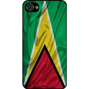 Rikki KnightTM Guyana Flag Black Hard Case Cover for Apple