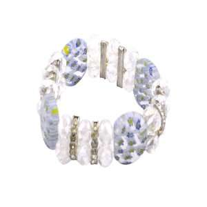 White Polished Stones Clear Faceted Crystals Diamond Rings