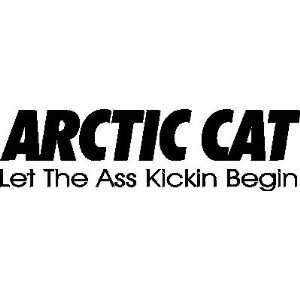 Arctic Cat vinyl decal sticker, Black Home & Kitchen