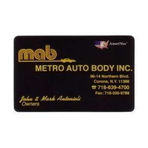 Collectible Phone Card Metro Auto Body (MAB) John & Mark