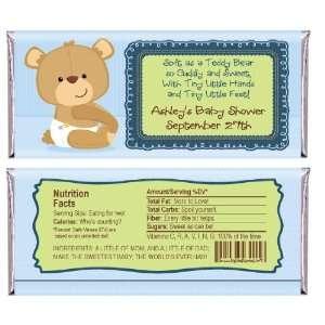 Baby Boy Teddy Bear   Personalized Candy Bar Wrapper Baby