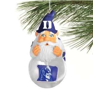 Duke Blue Devils Light Up Snow Globe Gnome Ornament