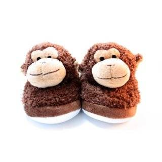 Home Fuzzy Friends Feet Slippers Monkey Kids Size: Everything Else