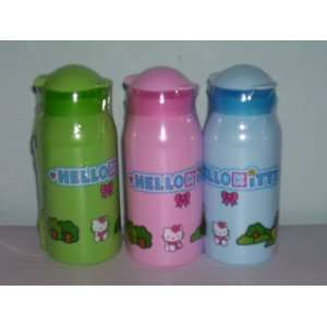 3 Hello Kitty Water Bottle with Strap (Sold As a Set