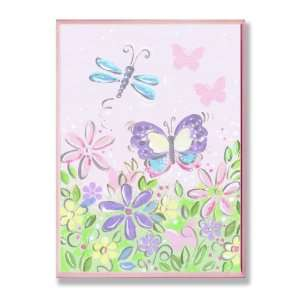 The Kids Room Pastel Dragonfly, Butterfly and Flowers Wall
