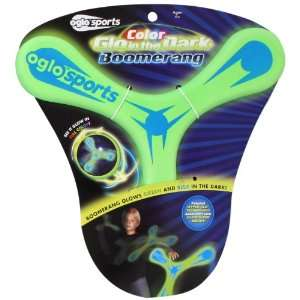OGLO Sports Glow in the Dark Boomerang   Green/Blue Toys & Games