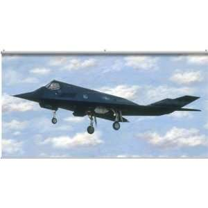 F 117 Stealth Military Fighter Jet Planes Minute Mural