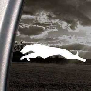 Greyhound Run Hunt Dog Decal Truck Window Sticker