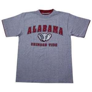 Alabama Crimson Tide Ash Double Layer T shirt Sports