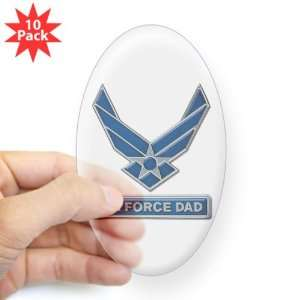 Sticker Clear (Oval) (10 Pack) Air Force Dad