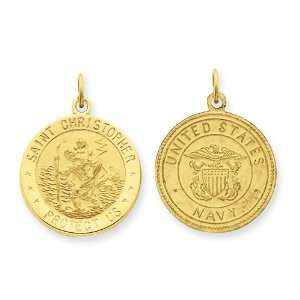 US Navy Saint Christopher Medal Pendant: West Coast Jewelry: Jewelry