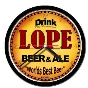 LOPE beer and ale cerveza wall clock: Everything Else