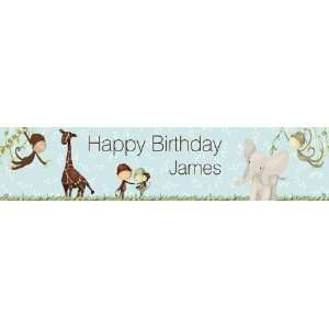 Jungle   Boy Birthday Banner
