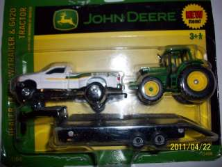 Ertl 1/64 farm toy John Deere ford truck pickup Trailer