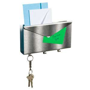 LETTRO Wall Mounted Letter Holder Aluminum Mail Organizer color silver