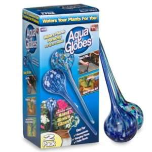 AG011706 Glass Plant Watering Bulbs, 2 Pack Patio, Lawn & Garden