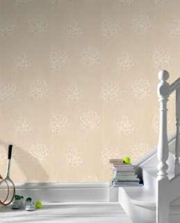 18069 Superfresco Texture Bloom Beige,Cream Trail Wallpaper