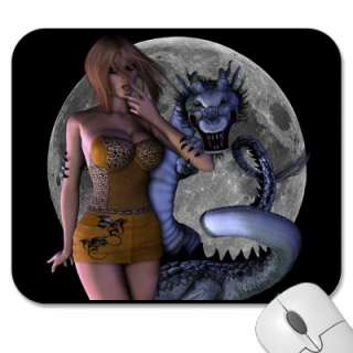Worth the Fight Sexy Dragon Pinup Girl Mousepad from Zazzle