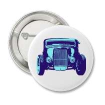 Cool Blue Hot Rod Pin by ClayMart