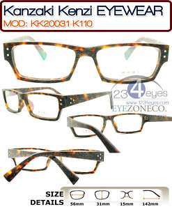 Kanzaki Kenzi Wood/Aceta​te Japan made Full Rim Eyeglass 31 110