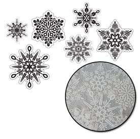 60 1893 Maya Road Snowflake Transparencies White Detail Page