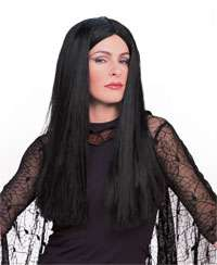 Adult Morticia Wig   Addams Family Costumes and Accesso