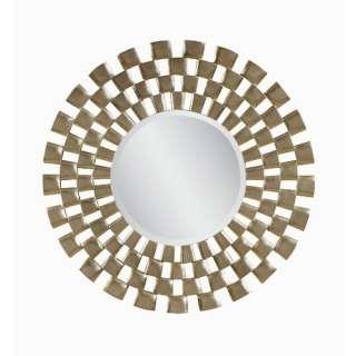 Mirror Sunburst Round Mirror in Antique Silver Leaf and Gold Washed